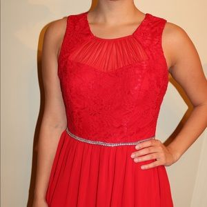 City Triangles size 7 - Red Lace Dress